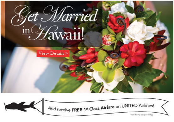 Classic get married in Hawaii